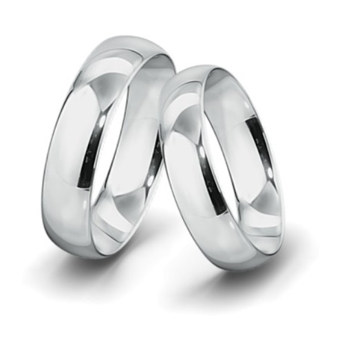 Obrączki ślubne białe  złoto 5mm 585