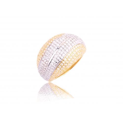 Pierścionek złoty wysadzany cyrkoniami