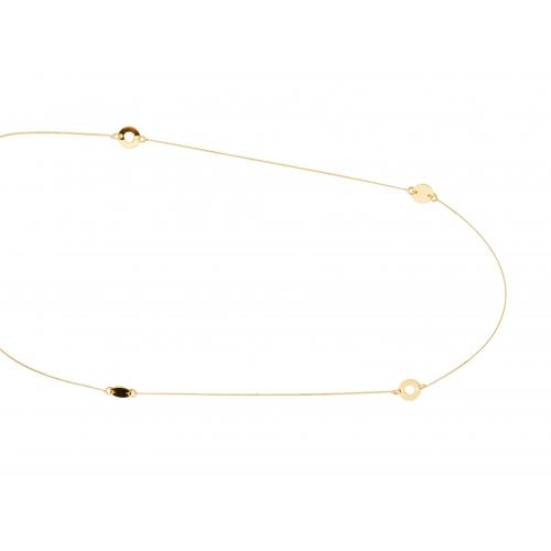 Łańcuszek złoty z kółeczkami