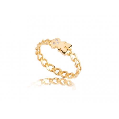 Pierścionek złoty z cyrkoniami Swarovski TOUS
