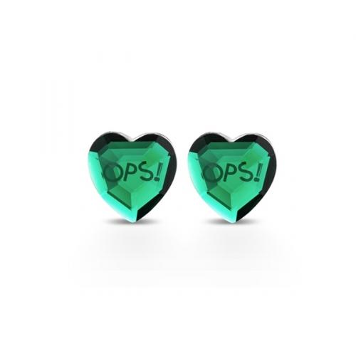 Kolczyki OPS!Shiny zielone