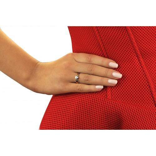 Złoty pierścionek z Diamentem próba 0750 !