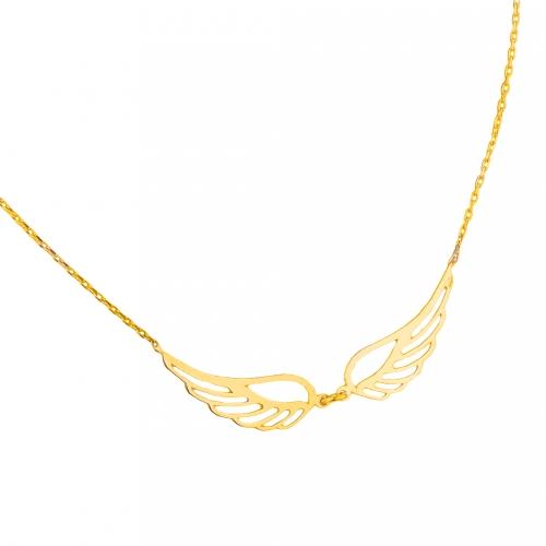 Zawieszka złota z łańcuszkiem  Swarovski 585