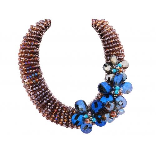 Kolia z niebieskimi kryształami Lewanowicz