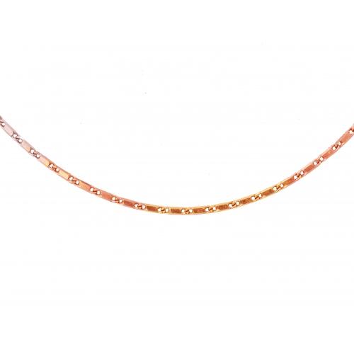 Łańcuszek złoty trójkolorowy