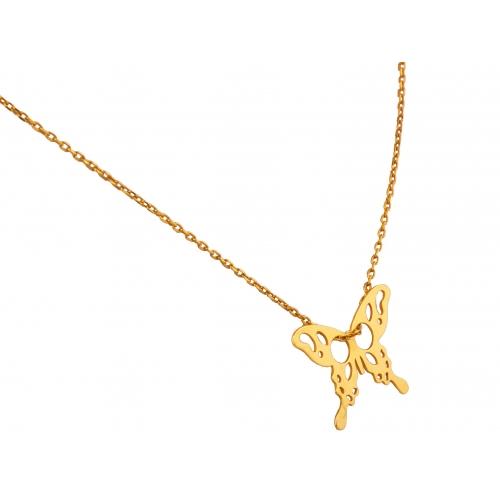 Łańcuszek złoty Celebrytka MOTYL