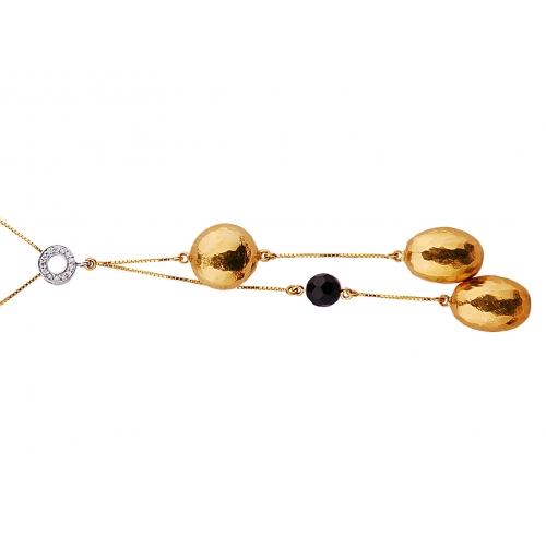 Naszyjnik złoty z diamentami