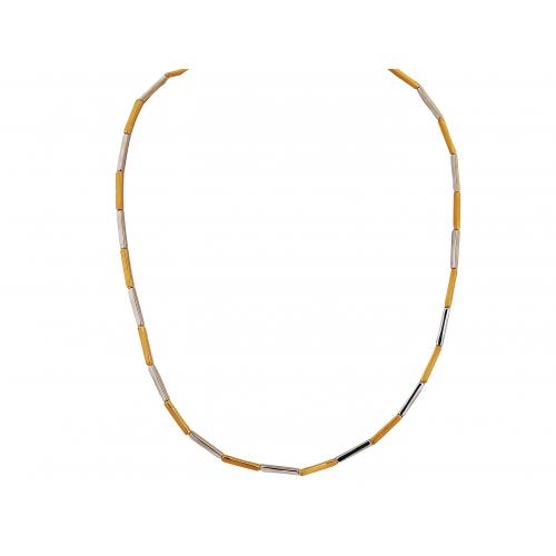 Naszyjnik złoty dwukolorowy