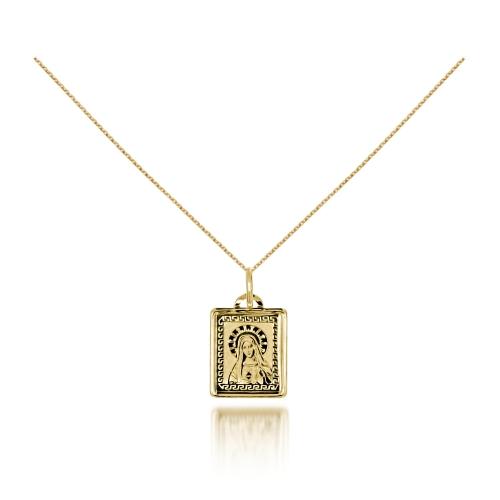 Medalik na Chrzest lub I Komunię grawer złoto 585