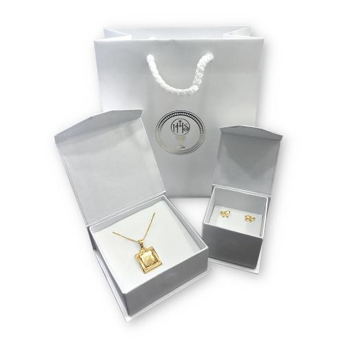 Medalik na Chrzest lub I Komunię grawer 585