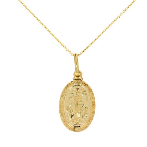 Cudowny Medalik  585 z łańcuszkiem z regulacją !