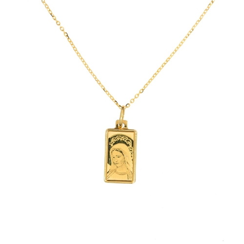 Medalik z łańcuszkiem  I Komunia Chrzest  585 grawer