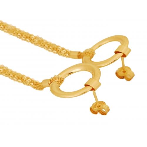 Kolczyki złote wiszące