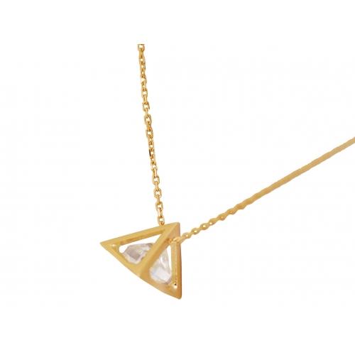 Łańcuszek złoty CELEBRYTKA piramida