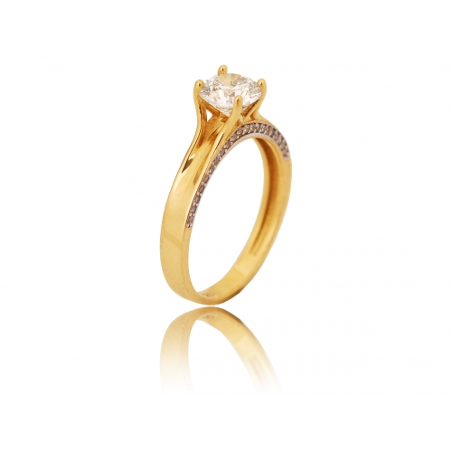 Pierścionek złoty klasyczny