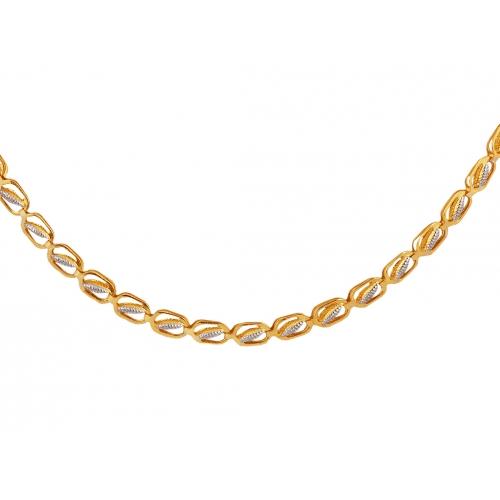 Łańcuszek z żółtego i białego złota