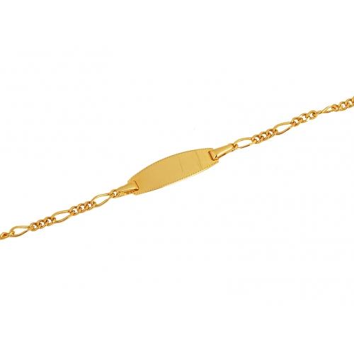 Bransoletka złota z blaszką
