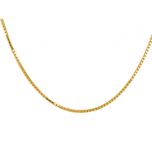 Łańcuszek złoty KOSTKA