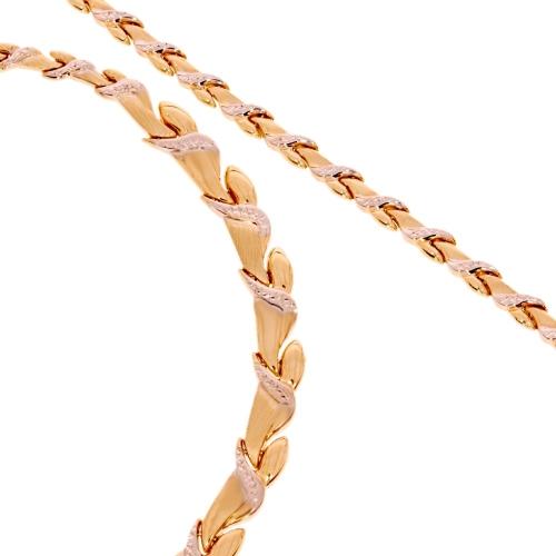 Złoty naszyjnik i bransoleta próby 585