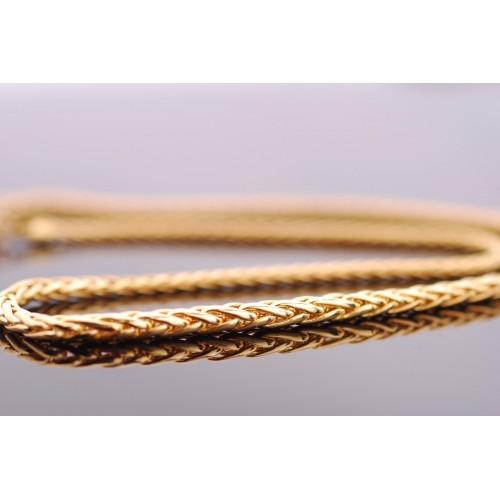 Komplet złoty Naszyjnik i bransoletka