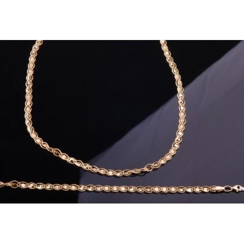 Komplet złoty Łańcuszek z bransoletką