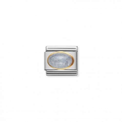Link NOMINATION kamień akwamaryn owal