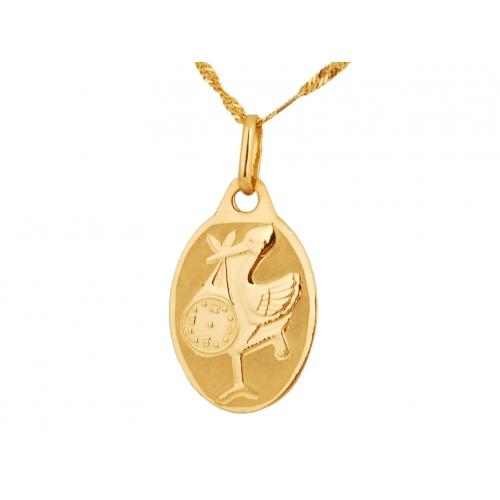 Wisior złoty bocian