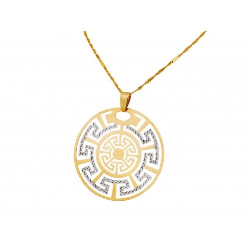 Medalion złoty grecki wzór