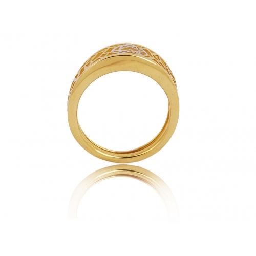 Pierścionek złoty ażurowy SERCE