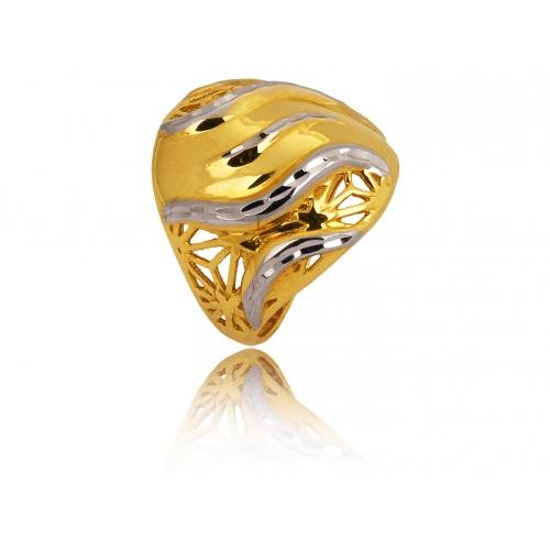 Pierścionek złoty ażurowy