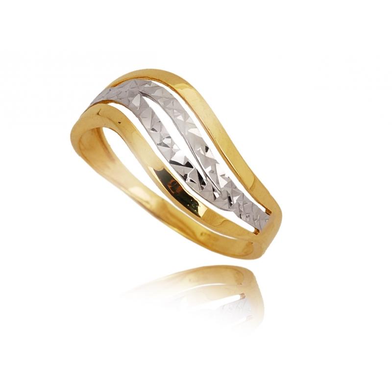 Pierścionek złoty dwukolorowy