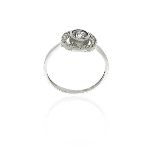 Złoty zaręczynowy pierścionek z białego złota 585 !