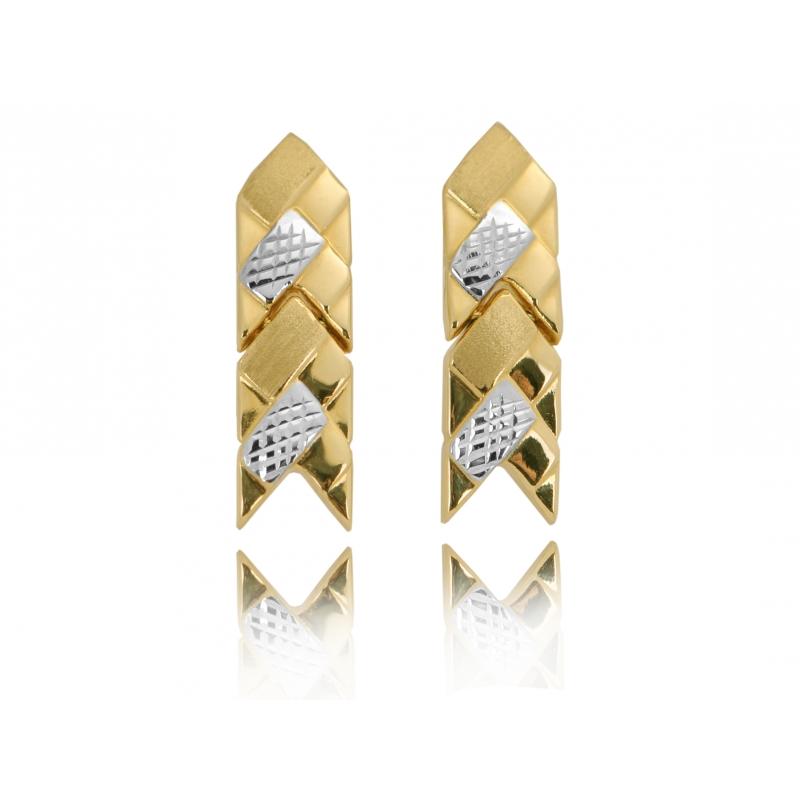 Komplet złoty: naszyjnik bransoleta kolczyki