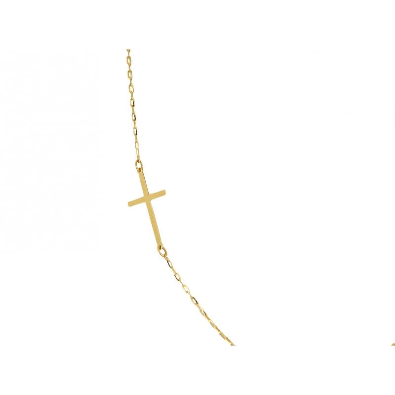 Łańcuszek złoty Celebrytka KRZYŻYK
