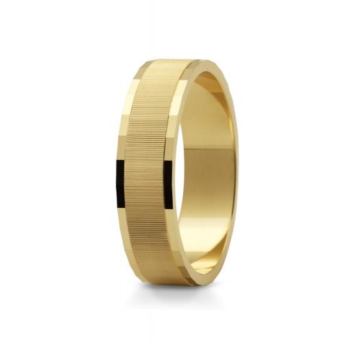 Obrączki serce z żółtego złota 585