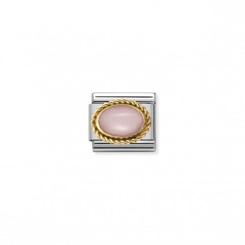 Link NOMINATION kamień różowy opal owal