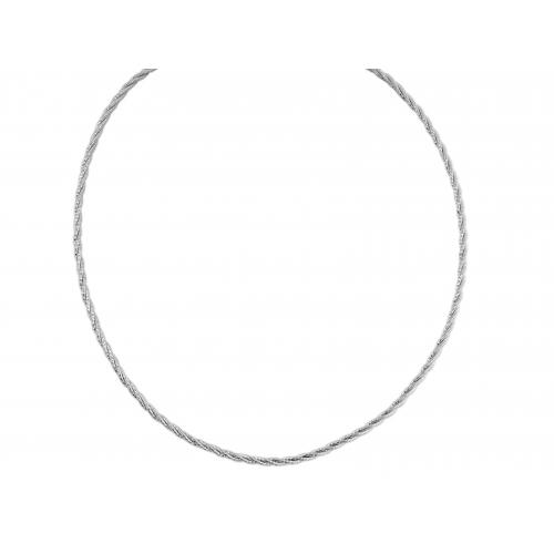 Naszyjnik srebrny skręcony