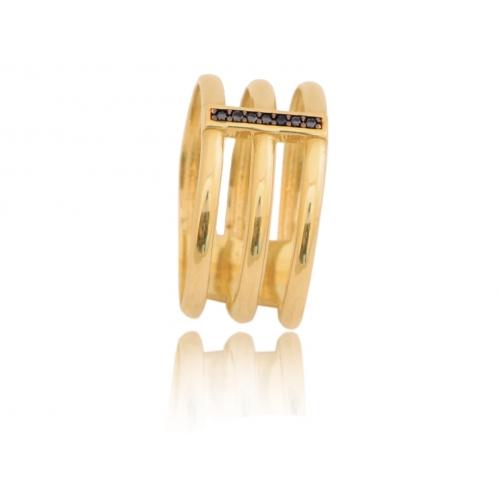 Pierścionek złoty szeroki OBRĄCZKI