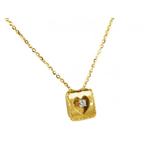Łańcuszek złoty SERCE