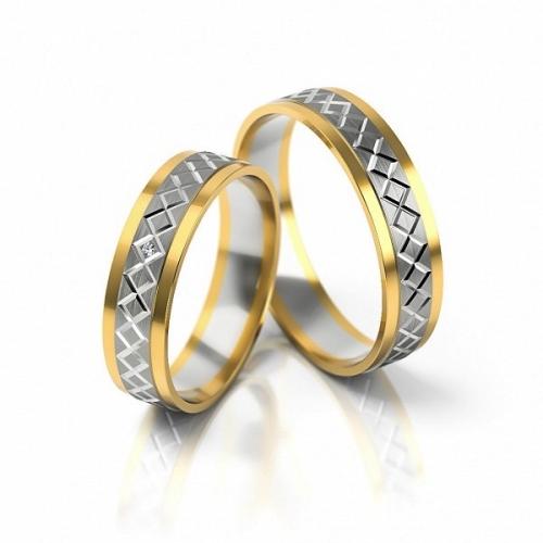 Obrączki złote dwukolorowe