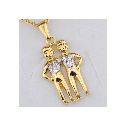 Złoty znak zodiaku BLIŹNIETA