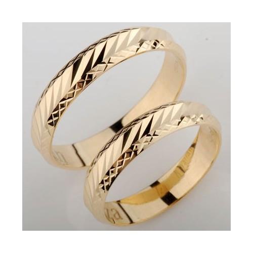 Złote obrączki ślubne 4mm