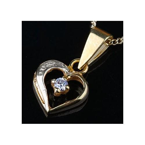 Wisiorek złoty z brylantem Serce