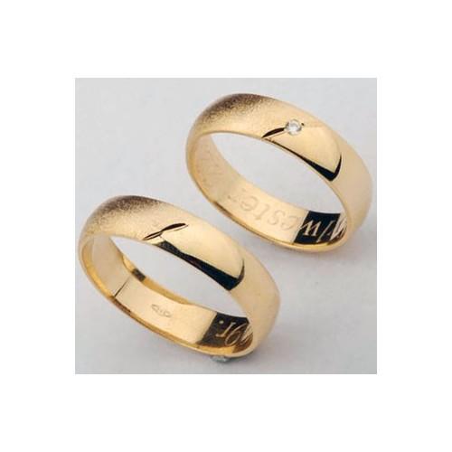 Obrączki złote z cyrkonią Swarovski