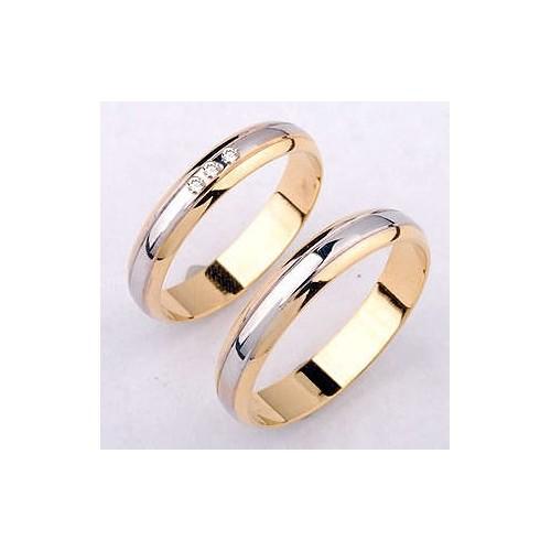 Obrączki złote z brylantami - nr29