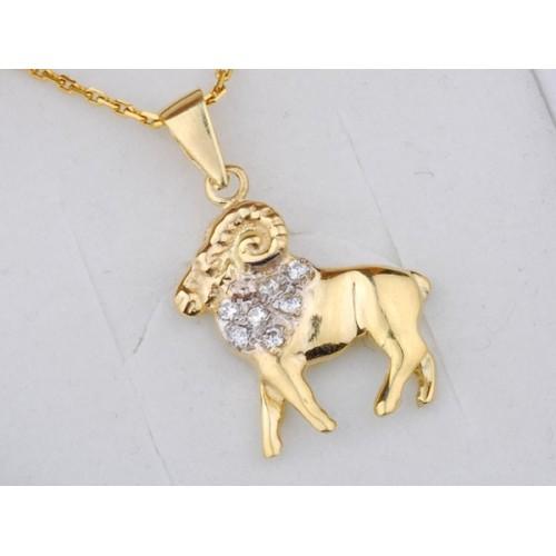 Złoty znak zodiaku BARAN