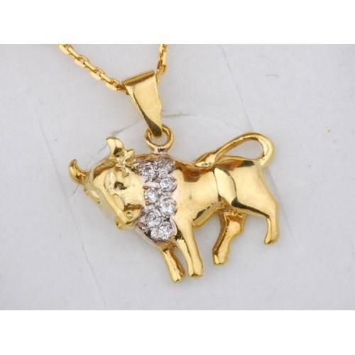 Złoty znak zodiaku BYK