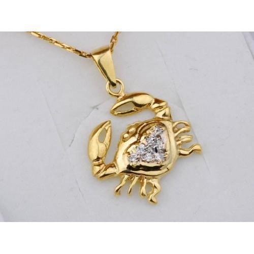 Złoty znak zodiaku RAK