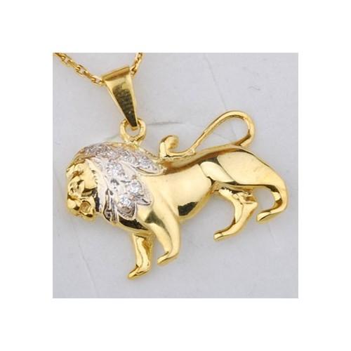 Złoty znak zodiaku LEW