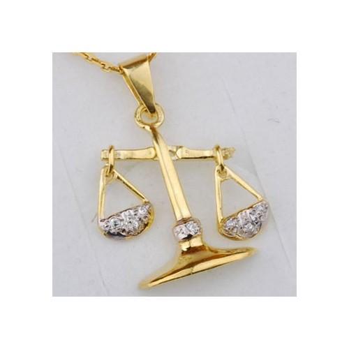Złoty znak zodiaku WAGA